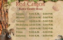 Red Canyon Visitor Center Hours