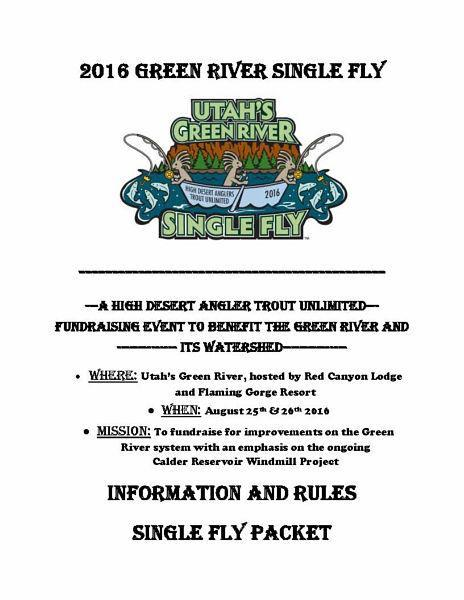Flaming gorge special events utah single fly contest for Green river utah fishing report