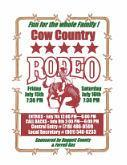 Cow Country Rodeo Entry Flyer