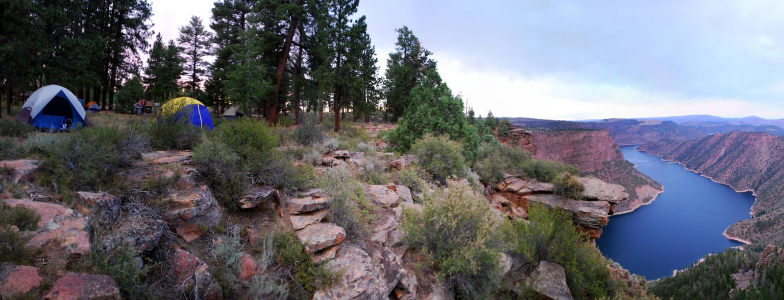 Camping on the Canyon Rim trail Flaming Gorge