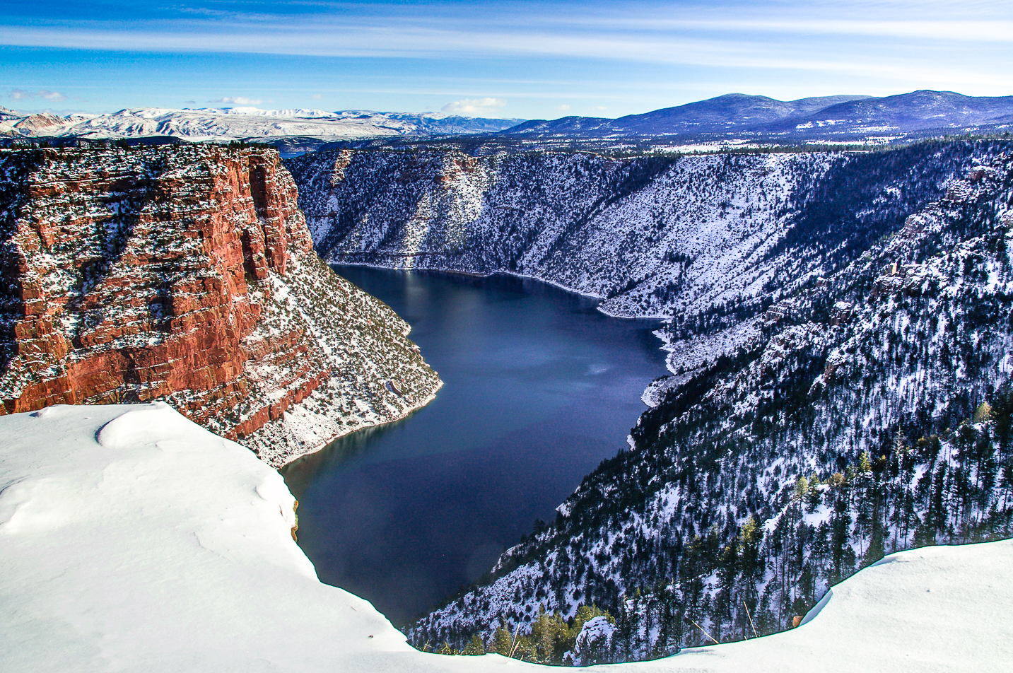 Red Canyon Overlook winter at Flaming Gorge