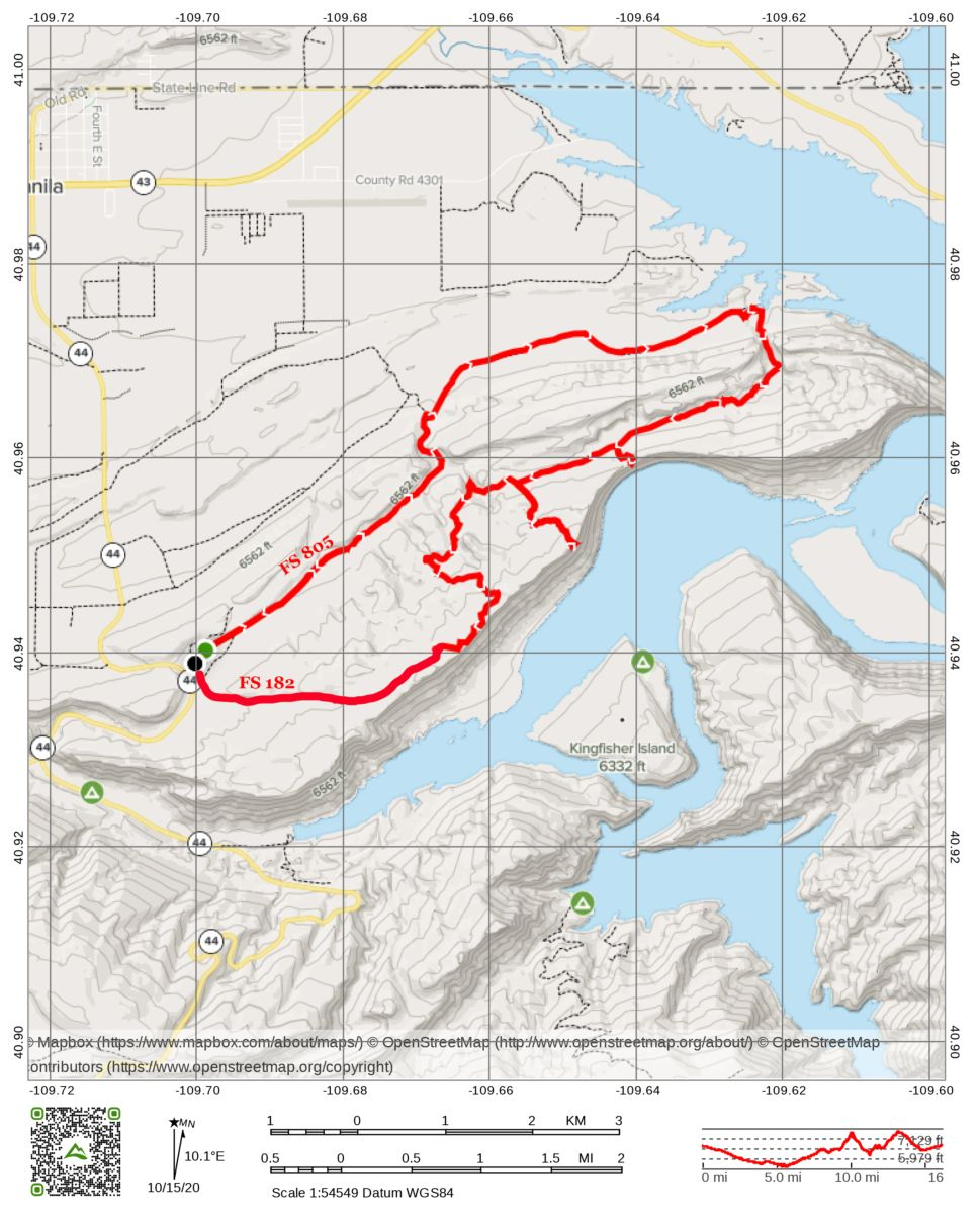 finch's draw ohv map flaming gorge