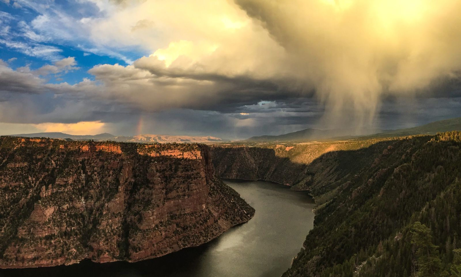 Summer Monsoons over Red Canyon on the Canyon Rim Trail