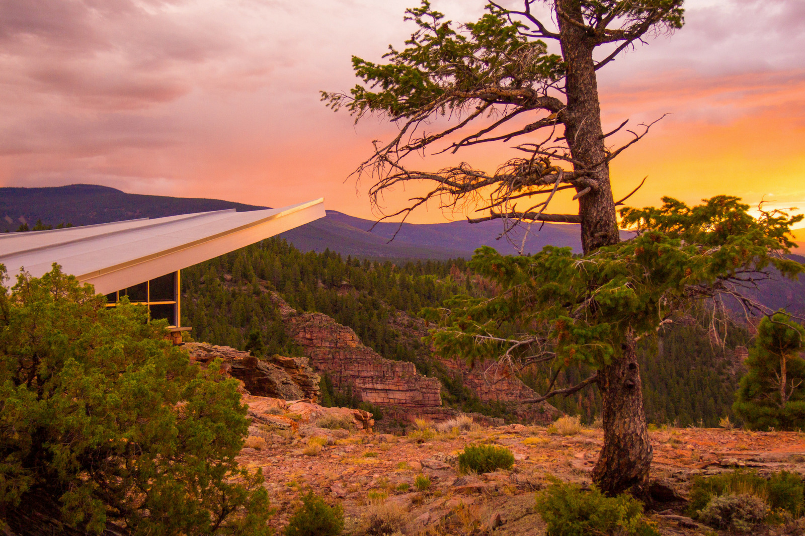 red canyon visitors center, flaming gorge
