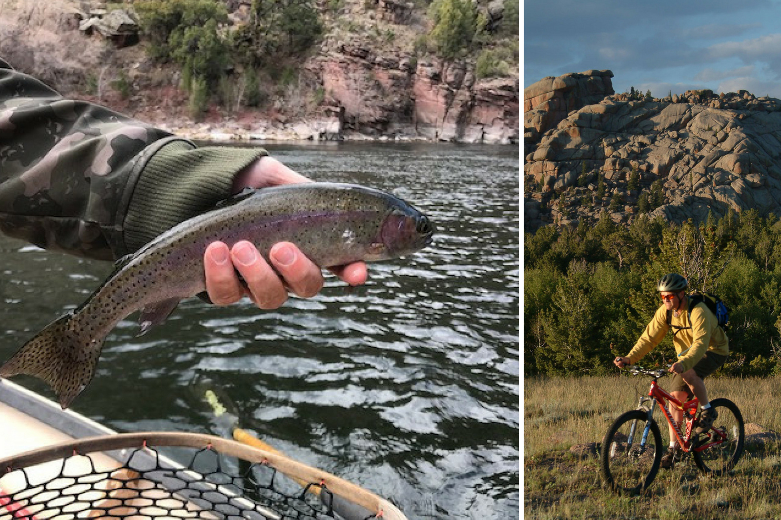 fishing on utah's green river, flaming gorge mountain biking